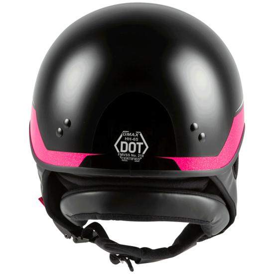 GMax Women's HH 65 Source Naked Half Helmet-Rear-View