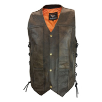 Brown Leather Vests