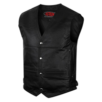 Black Leather Vests
