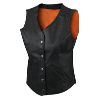 Womens Leather Vests