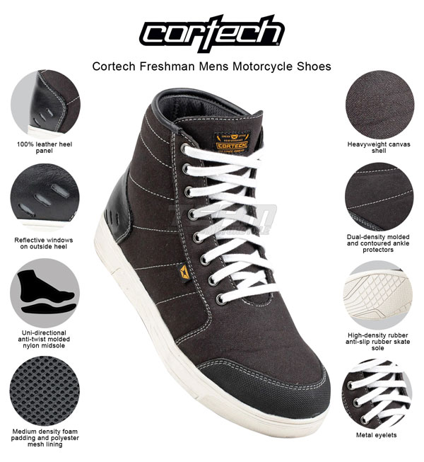 Cortech Freshman Riding Shoes 7 Black