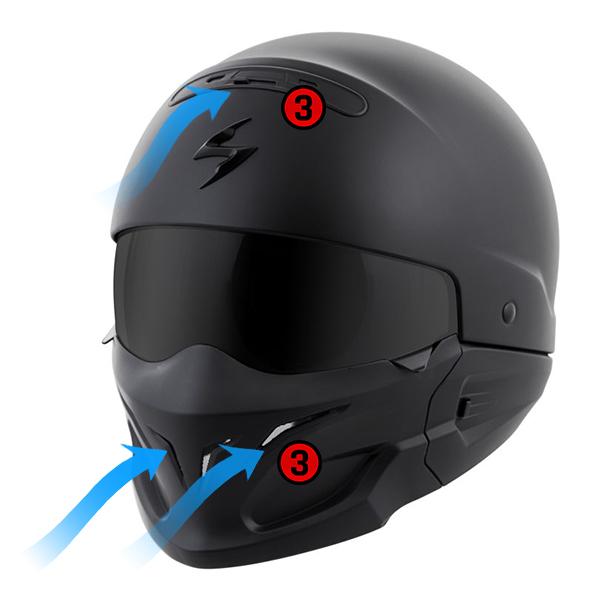 scorpion helmet Aero-Tuned Ventilation System