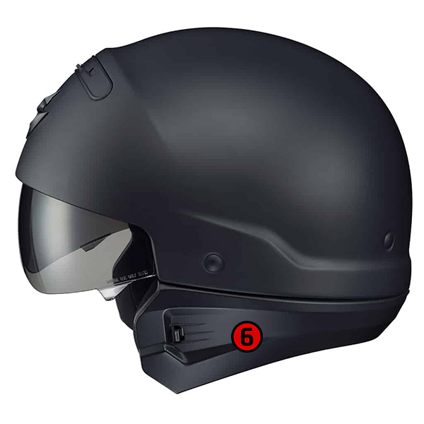 scorpion helmet Removable Rear Comfort Sleeve Included