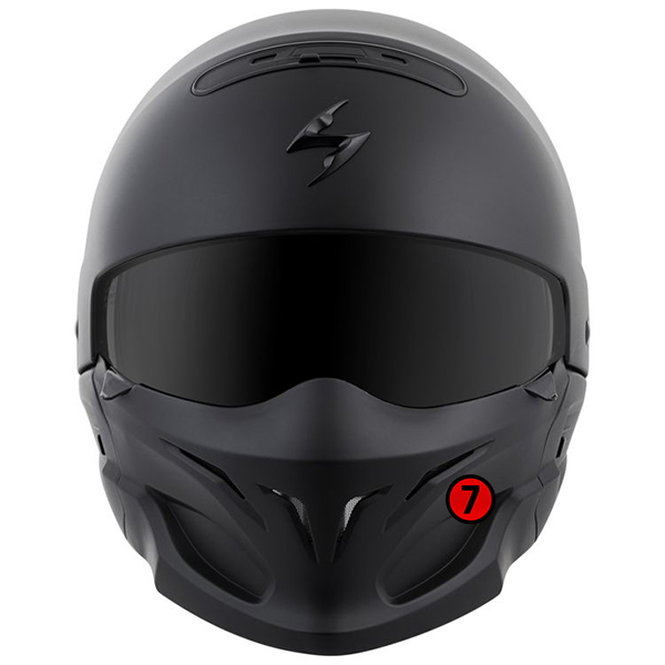 scorpion helmet Removable Front Mask with Neodymium Magnets