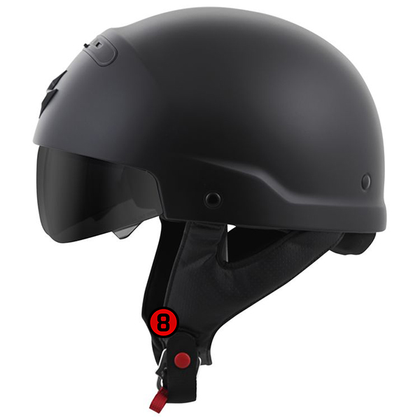 scorpion helmet Double D-Ring Chin Strap System