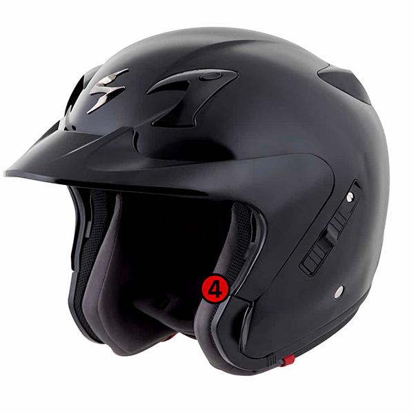 scorpion helmet cheek pads accommodate eyewear