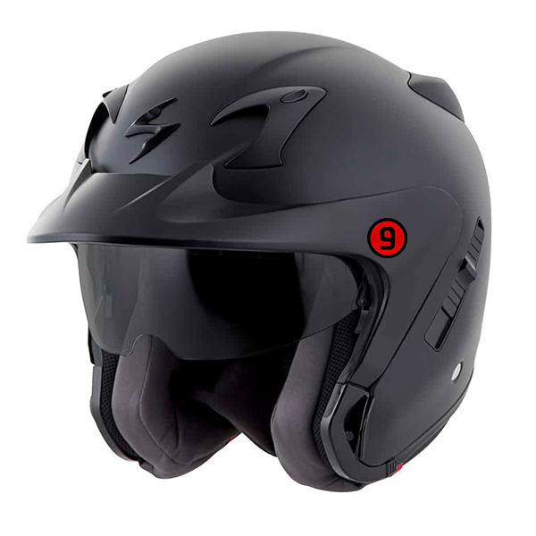 scorpion helmet Open-face peak visor included