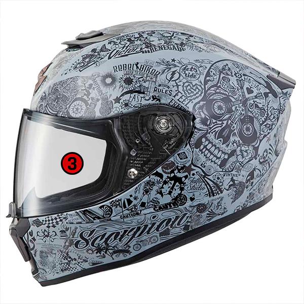 scorpion helmet EverClear No Fog Faceshield