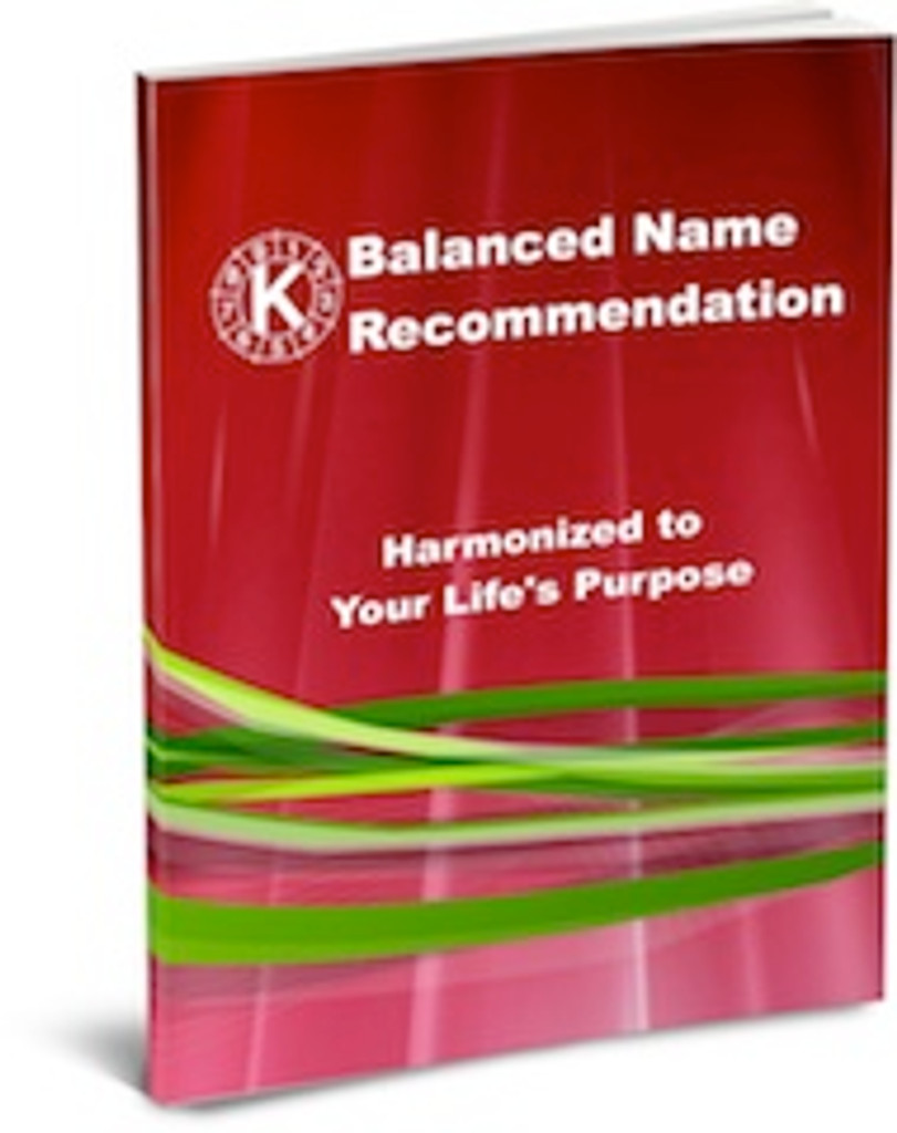 Balanced Name Recommendation - Adult - Standard Plus Package with Cycle Chart