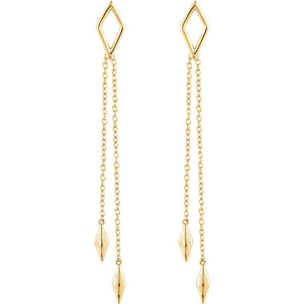 The Geometric Chain Earrings