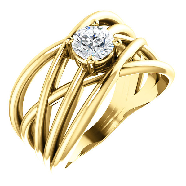 The Solitare Criss Cross Ring