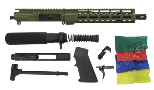 """ALWAYS ARMED 10.5"""" 5.56 NATO PISTOL KIT - BAZOOKA GREEN"""