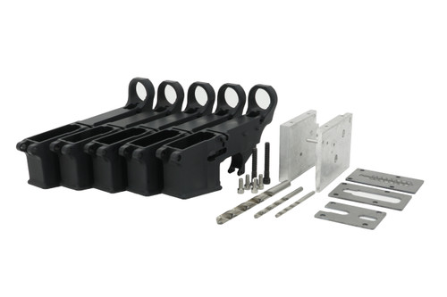 ALWAYS ARMED 80% LOWER RECEIVER 5 PACK WITH JIG KIT - BLACK ANODIZED