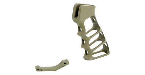 Tactical Dynamics Skeleton Grip and Matching Trigger Guard   Magpul Flat Dark Earth