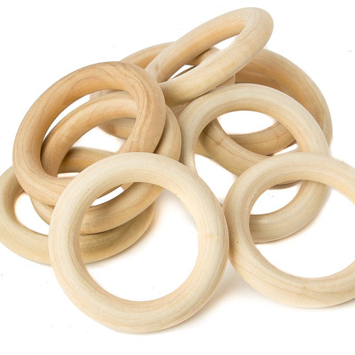 "2-3/4"" Organic Maple Wooden Rings"