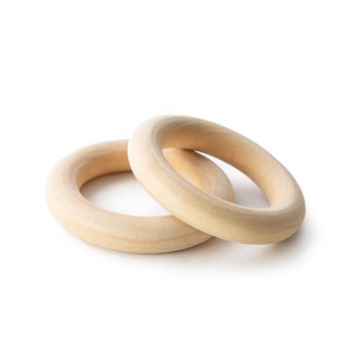 "2-3/4"" Organic Maple Wooden Rings"