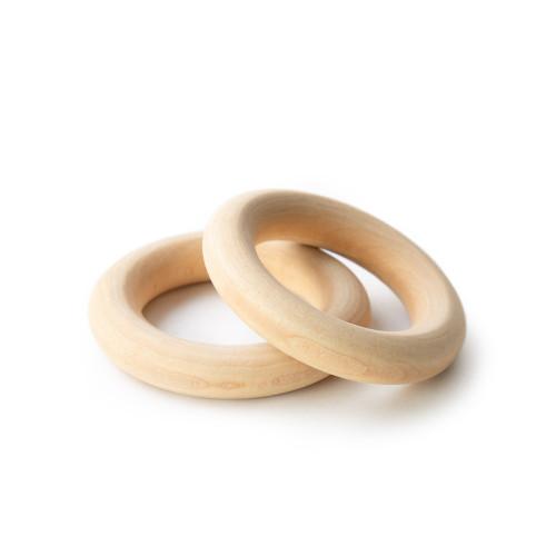 "2.5"" Organic Maple Wooden Rings"