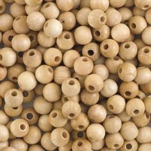 """1/2"""" Maplewood Round Beads w/ 5/32"""" hole"""