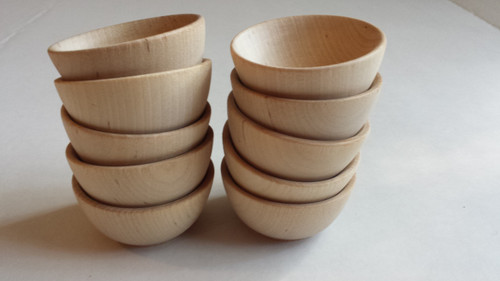 "Miniature Wooden Bowls  2-1/2"""