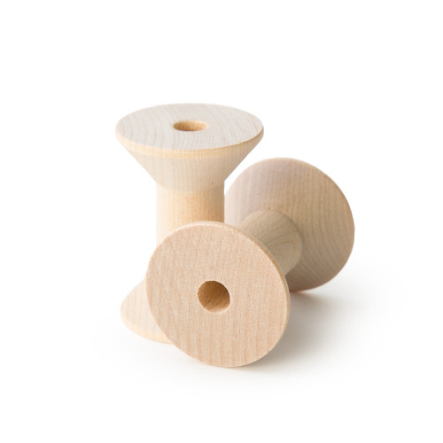 """Unfinished Wooden Thread Spools - 1-3/8"""" x 1-15/16"""""""