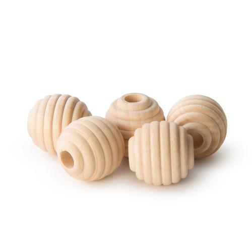 "1"" Maplewood Beehive Beads w/ 5/16"" hole"