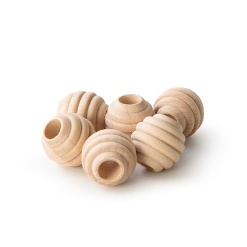 "3/4"" Maplewood Beehive Beads w/ 5/16"" Hole"