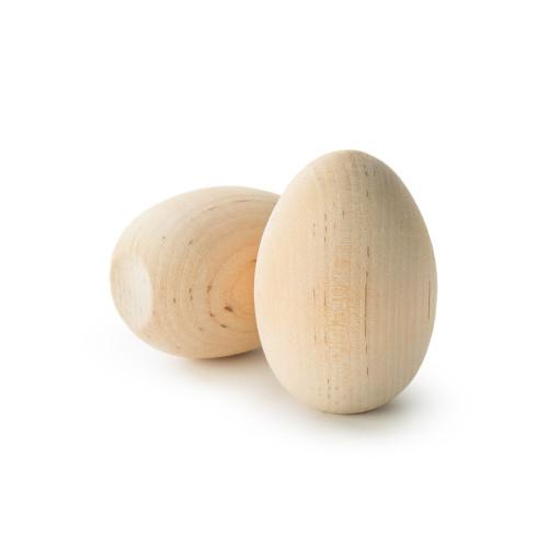 "Wooden Hen Eggs w/flat bottom 2-1/2"""