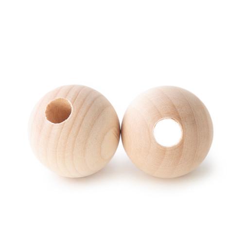 """1-1/4 Maplewood Round Beads w/ 3/8"""" hole"""