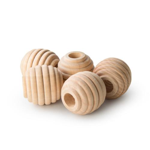 "1-1/4"" Maplewood Beehive Beads w/ 7/16"" Hole"