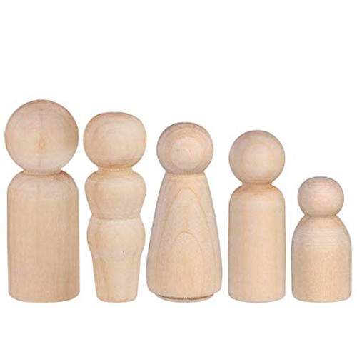 Little Wooden Peg Doll Family (5 Families of 5)