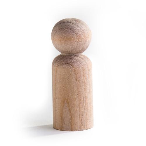 """50 Little Wooden People Peg Doll - Boy 1-11/16"""" tall"""