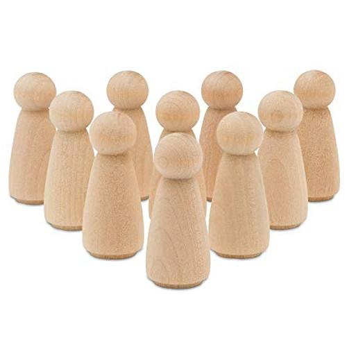 "50 Little Wooden People Peg Doll - Doll/Angel 3-1/2"" tall"