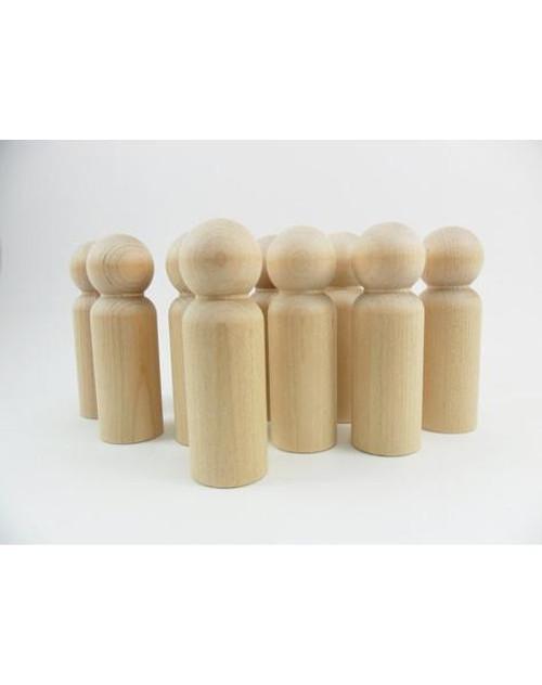 """50 Little Wooden People Peg Doll - Man Body 3-9/16"""""""