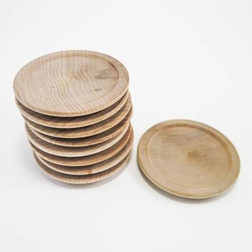 Miniature Wood Plates - 2-1/2