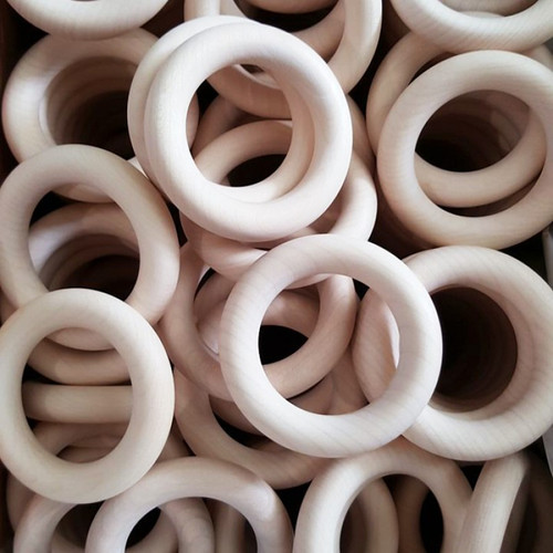 Sample Bag of Mixed Organic Maple Wooden Rings (1 each of all 6 sizes)