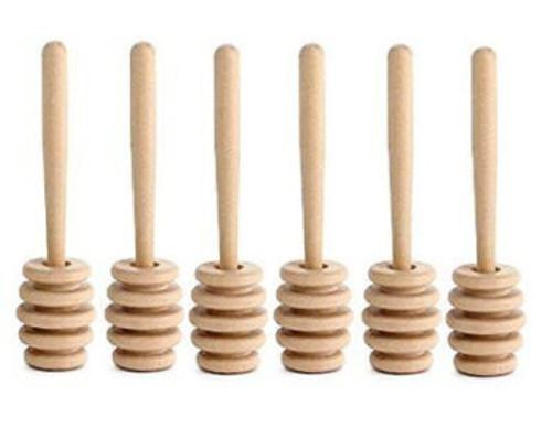 """Wood Honey Dipper 5"""" long w/ 1-1/8"""" head diam"""