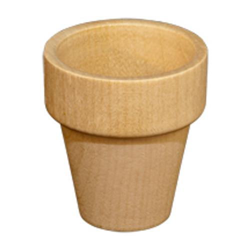 """Miniature Wooden Flower Pots 1-15/16"""" tall x 1-3/4"""" wide"""
