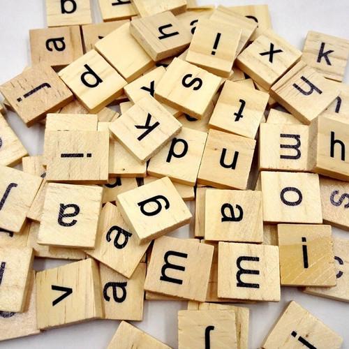 Scrabble Tiles - 100 pc