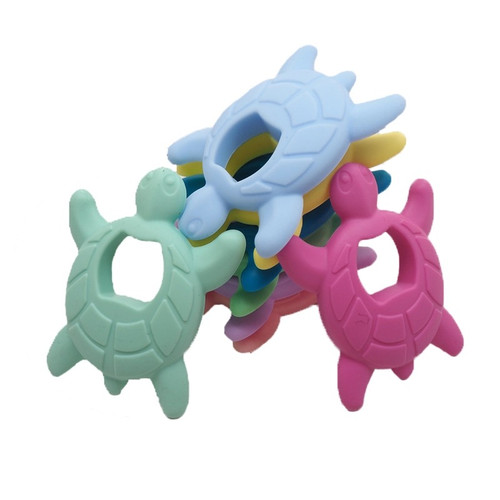 Silicone Turtle Teether  - 10pc