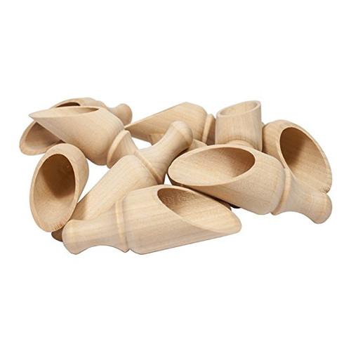 "3-1/2"" Wood Scoops"