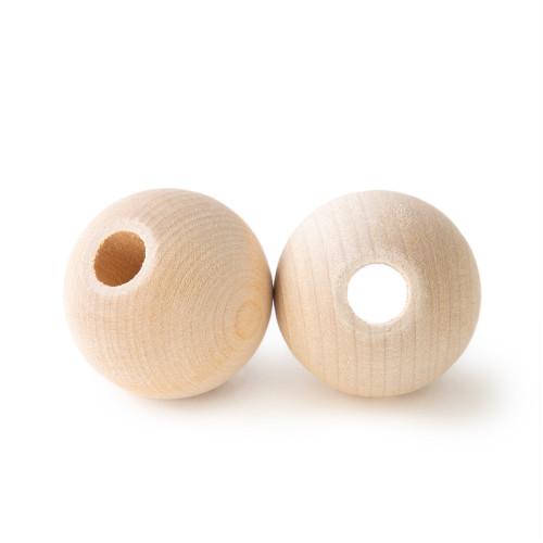 """1-5/16 Maplewood Round Beads w/ 3/8"""" hole"""
