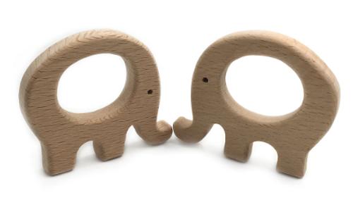 Wooden Elephant Teether