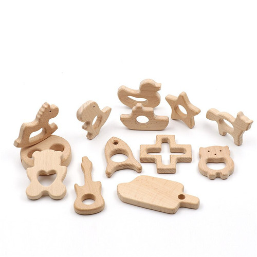 Wooden Mixed Shaped Teether