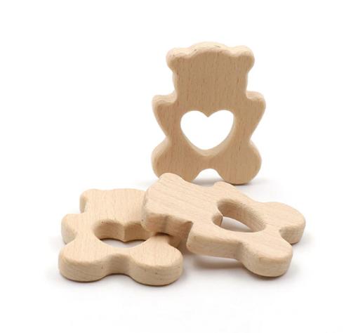 Wooden Bear Teether