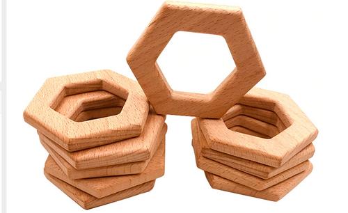 Wooden Hexagon Teether