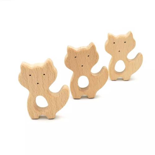 Wooden Fox Teether