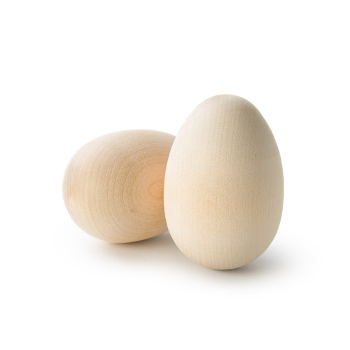 """Wooden Hen Eggs w/Rounded Ends 2-1/2"""""""