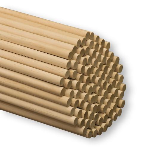 1/2″ x 12″ Wood Dowels - 10