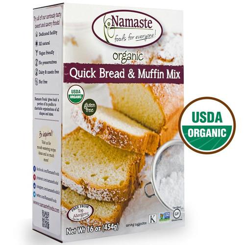 Namaste Organic Quick Bread & Muffin Mix - FINAL SALE BB JAN 31/21