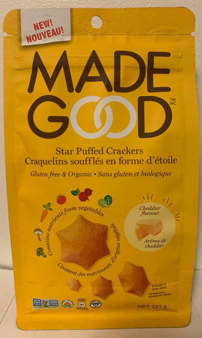 Made Good Star Puffed Crackers - Cheddar